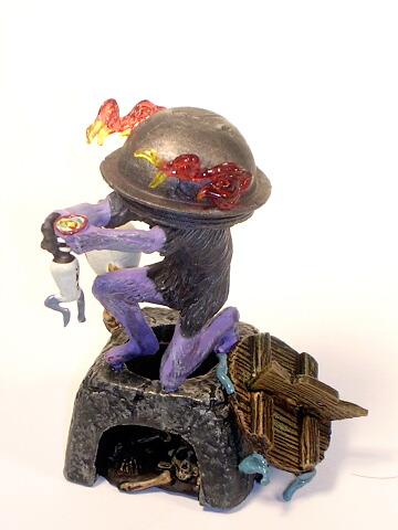 Kaiyodo Yokai Series 2 Burning Pot Demon Color Version