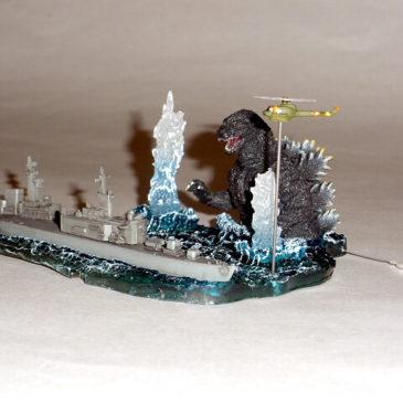 Cast Co. Heisei Godzilla vs Japanese Navy Diorama Mint