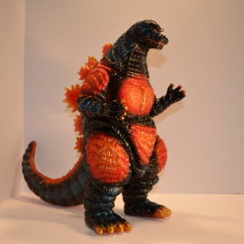 huge gorgeous glitter burning godzilla marmit 2009 figure very rare