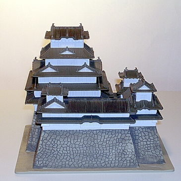 Himeji Castle Diorama by Taito Co. of Japan Mint in Box