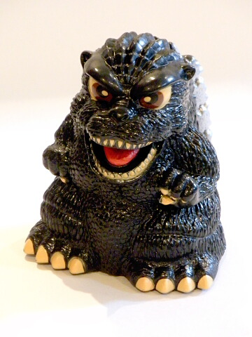 Godzilla Figure King of the Monsters Bank Yutaka 1995