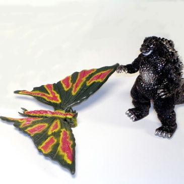 Godzilla Battora Box Set 1993 Yutaka Vintage Mint