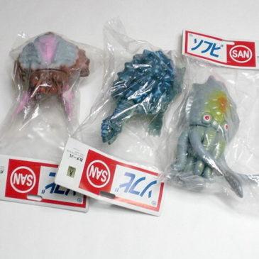 YOG Monster Set Ganime Kameba Gezora Marusan Figures