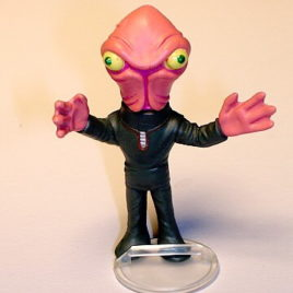 Choc O Vader Spaceman Squid Mini Alien by Tomy