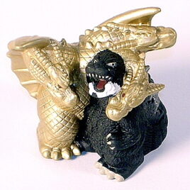 Bandai 2003 SD Godzilla and King Ghidorah 1991 Mini Figure