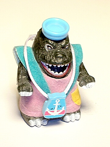 Mini Godzilla Sparking Zoomer in Costume Vintage