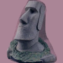 Collect Club Series 1 Easter Island Stone Figure Moai Rare