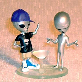 Collect Club Series 2 Grey Alien boy in disguise Purple Cap