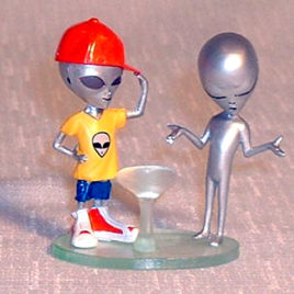 Collect Club Series 2 Grey Alien Boy in Disguise Red Cap