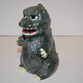 Ceramic Godzilla Statue Bank Vintage