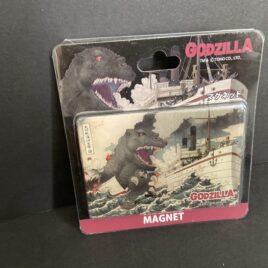 Godzilla Attacking Ship Magnet 2016